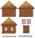 set of hay house  illustration | Shutterstock .eps vector #1235893318