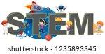 children with stem logo... | Shutterstock .eps vector #1235893345