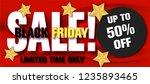 black friday sale.on red satin... | Shutterstock .eps vector #1235893465