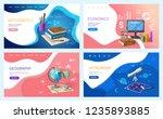 school education  mathematics... | Shutterstock .eps vector #1235893885