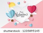 happy valentine's day with... | Shutterstock .eps vector #1235895145