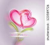 valentine's day vector... | Shutterstock .eps vector #123589726