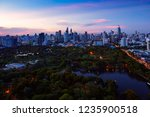 lumpini park  the lungs of...   Shutterstock . vector #1235900518