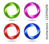 colorful swirl icons | Shutterstock . vector #123590698