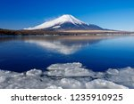 mt fuji  in the early morning.... | Shutterstock . vector #1235910925