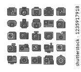 camera and action camera icons  ... | Shutterstock .eps vector #1235917918