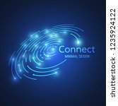 abstract network connection.... | Shutterstock .eps vector #1235924122