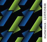 trendy sport seamless pattern... | Shutterstock .eps vector #1235925838