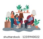 group of people using... | Shutterstock .eps vector #1235940022