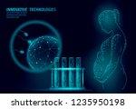 in vitro fertilization 3d low... | Shutterstock .eps vector #1235950198