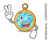 two finger classic watch... | Shutterstock .eps vector #1235954755