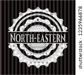 north eastern silvery emblem or ... | Shutterstock .eps vector #1235966878