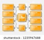 vector abstract 3d paper... | Shutterstock .eps vector #1235967688