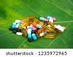 many medicines  pills  tablets  ... | Shutterstock . vector #1235972965