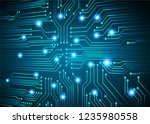 binary circuit board future... | Shutterstock .eps vector #1235980558