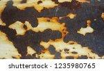 rusty metal background texture. ... | Shutterstock . vector #1235980765