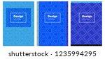 light blue  red vector brochure ...