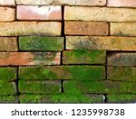 closeup view of red brick wall... | Shutterstock . vector #1235998738
