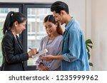 sale representative offer the... | Shutterstock . vector #1235999962
