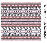 illustration of maori symbols... | Shutterstock . vector #123600628