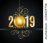 new 2019 year greeting card... | Shutterstock .eps vector #1236029758