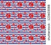 seamless sea pattern | Shutterstock .eps vector #123603088