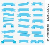 flat vector ribbons banners... | Shutterstock .eps vector #1236032722