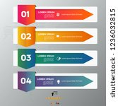 colorful arrow infographic... | Shutterstock .eps vector #1236032815