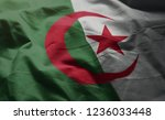algeria flag rumpled close up  | Shutterstock . vector #1236033448