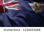 anguilla flag rumpled close up  | Shutterstock . vector #1236033688