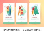 design winter holidays landing... | Shutterstock .eps vector #1236044848