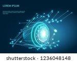 robot eye. vector of modern... | Shutterstock .eps vector #1236048148