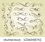 set of elegant decorative... | Shutterstock .eps vector #1236048742