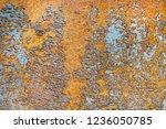 the texture rust  a background  ... | Shutterstock . vector #1236050785