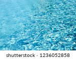 water wave in swimming pool for ... | Shutterstock . vector #1236052858