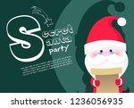 secret santa party banner...   Shutterstock .eps vector #1236056935