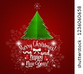 christmas greeting card. merry... | Shutterstock .eps vector #1236060658