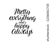 merry everything and a happy... | Shutterstock .eps vector #1236061735