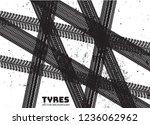 vector tire track background... | Shutterstock .eps vector #1236062962
