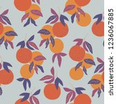 seamless vector pattern with... | Shutterstock .eps vector #1236067885