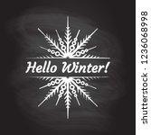 hello winter typography text... | Shutterstock .eps vector #1236068998