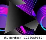 memphis seamless pattern....   Shutterstock .eps vector #1236069952