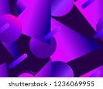 memphis seamless pattern....   Shutterstock .eps vector #1236069955