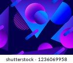 memphis seamless pattern....   Shutterstock .eps vector #1236069958