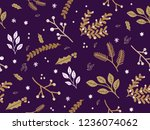 winter theme seamless pattern...   Shutterstock .eps vector #1236074062