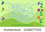 maze game for kids. help... | Shutterstock .eps vector #1236077242