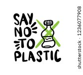 say no to plastic text  ...   Shutterstock .eps vector #1236077908