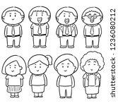 vector set of people | Shutterstock .eps vector #1236080212