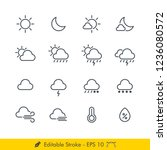 weather sign related icons  ... | Shutterstock .eps vector #1236080572