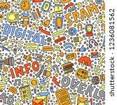 informational overload.... | Shutterstock .eps vector #1236081562